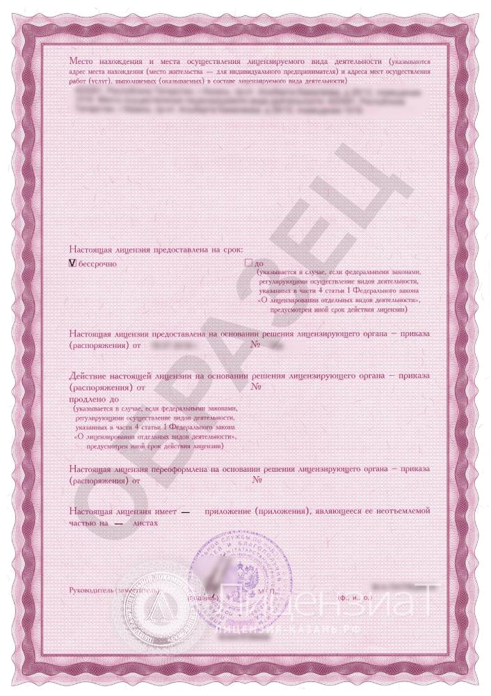 Образец лицензии на источники ионизирующего излучения
